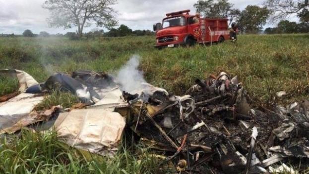 Avião de ex-candidato a prefeito de Araçatuba cai e 2 morrem em MS